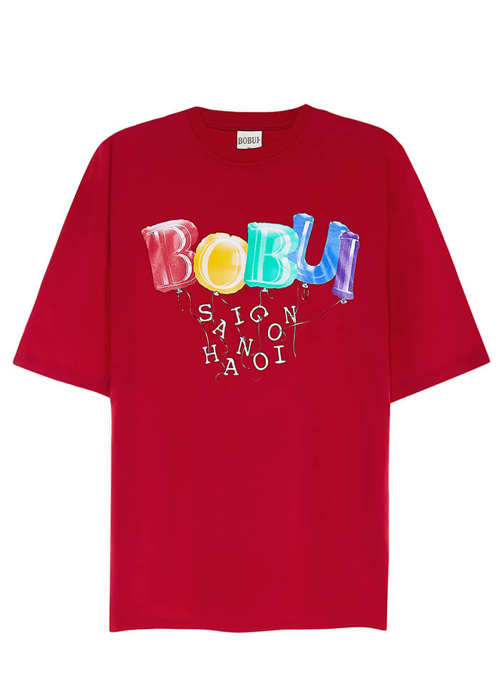 BALLOON LOGO – TEES/RED