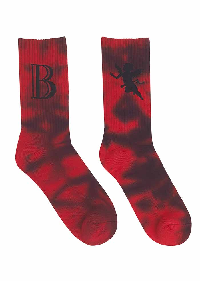 DYE SOCKS – LOGO / RED