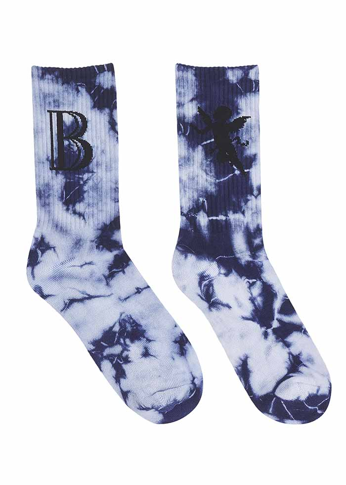 DYE SOCKS – LOGO / NAVY4QQ
