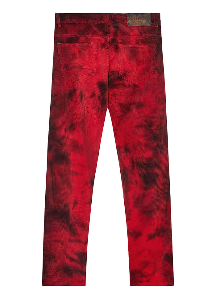DYE CORDUROY PANTS – RED