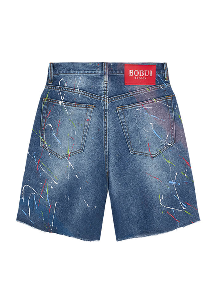 PAINTER SHORT JEANS – BLUE