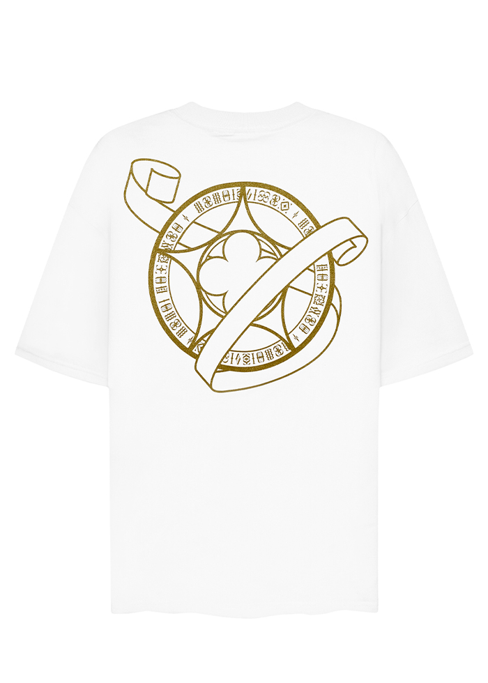SYMBOLS LOGO STAR GOLD TEES/ WHITE