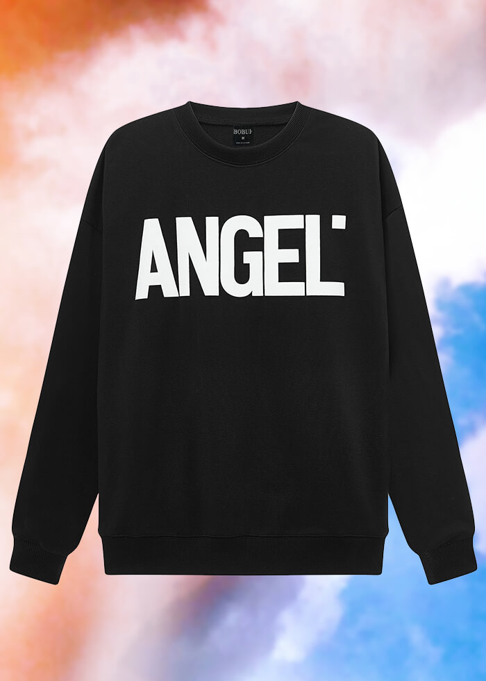 ANGEL LOGO SWEATER/ BLACK